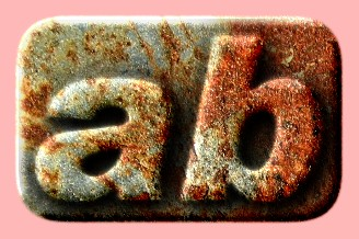 Embossed Rust Text Effect 011