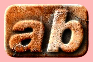 Embossed Rust Text Effect 013