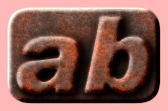 Embossed Rust Text Effect 018