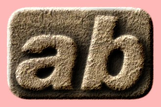 Embossed Sand Text Effect 003
