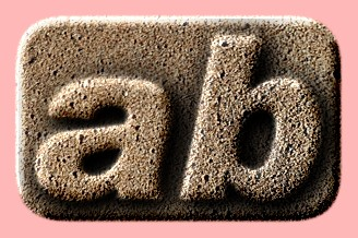 Embossed Sand Text Effect 005