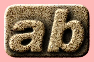 Embossed Sand Text Effect 006