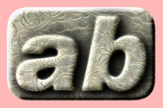 Embossed Silver Text Effect 004