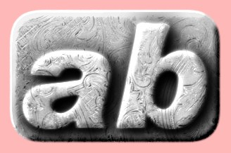 Embossed Silver Text Effect 017