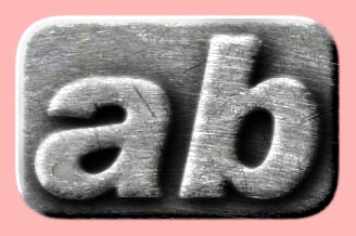 Embossed Steel Text Effect 001