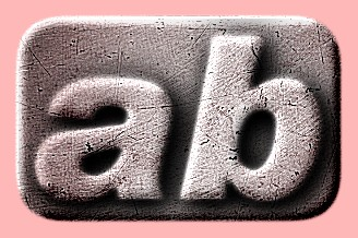 Embossed Steel Text Effect 008