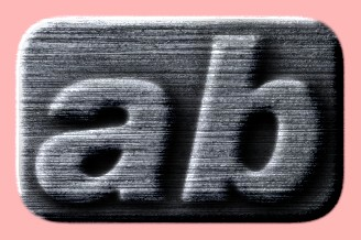 Embossed Steel Text Effect 014