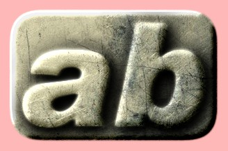 Embossed Steel Text Effect 015