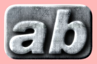 Embossed Steel Text Effect 017