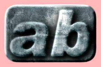 Embossed Steel Text Effect 018