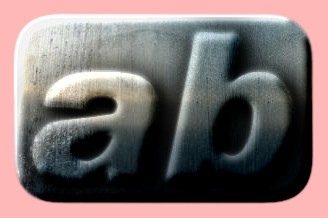 Embossed Steel Text Effect 019