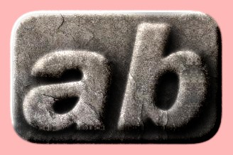 Embossed Stone Text Effect 006