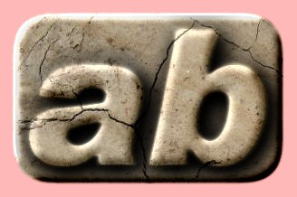 Embossed Stone Text Effect 036