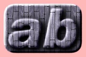 Embossed Wood Text Effect 003