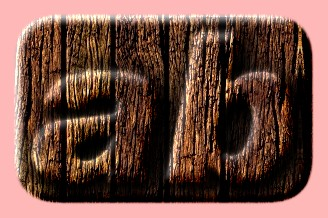 Embossed Wood Text Effect 007