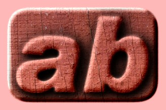 Embossed Wood Text Effect 008