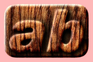 Embossed Wood Text Effect 013