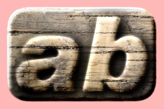 Embossed Wood Text Effect 014