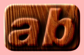 Embossed Wood Text Effect 015