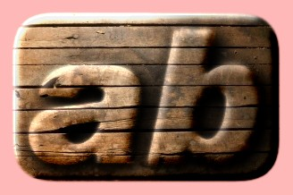 Embossed Wood Text Effect 018