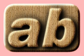Embossed Wood Text Effect 022