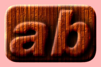 Embossed Wood Text Effect 023