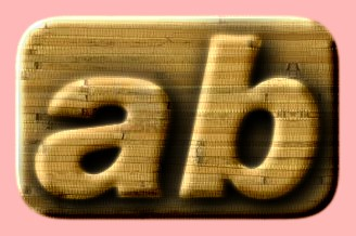 Embossed Wood Text Effect 024