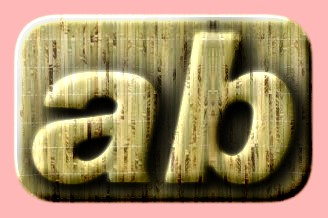 Embossed Wood Text Effect 025