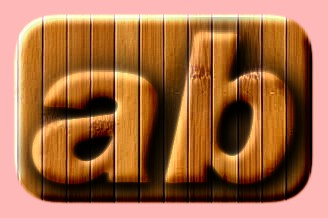 Embossed Wood Text Effect 026