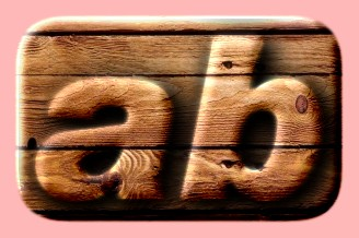 Embossed Wood Text Effect 028