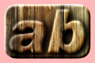 Embossed Wood Text Effect 035