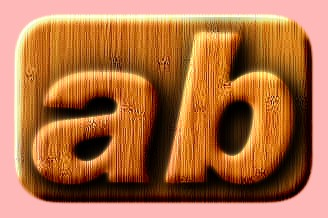 Embossed Wood Text Effect 045