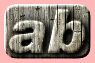Embossed Wood Text Effect 050