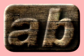 Embossed Wood Text Effect 053