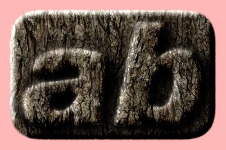 Embossed Wood Text Effect 055