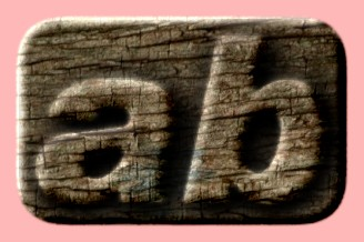 Embossed Wood Text Effect 056