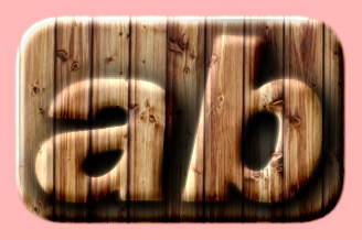Embossed Wood Text Effect 058