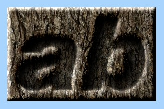 Engraved Wood Text Effect 055